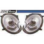 【M's】BMW ミニ R55/R56/R57/R58/R59(06y-14y)ZONE RACING製 F56-ルック Bi-ハロゲン プロジェクター ヘッドライト Type-1(クリアークロム