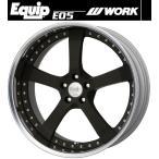 【M's】WORK Equip E05 ホイール 19インチ 8.0j ブラックアルマイト(SKA/B) 1本// ワーク エクイップ 鍛造 3ピース 新品 マット ブラック 黒
