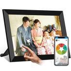 moonka wifi デジタルフォトフレームwifi対応 画面8インチ 人感センサー 1280*800高解像度 タッチパネル 写真や動画再生 スライ