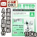 2点までメール便可 デリーター漫画原稿用紙 A4判 B5サイズ 同人誌用 メモリ付A (110kg/40枚入)
