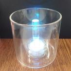 ジェルキャンドル用グラスとLEDライトキャンドルのセット LEDキャンドルライトは全2色