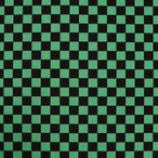 市松模様 模様サイズS 16mm 黒×緑 幅110cm 長さ10cm 地染め生地【ゆうパケット対応】