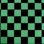 市松模様 模様サイズ40mm 黒×緑 幅110cm 長さ10cm 地染め生地 【ゆうパケット対応】