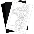 切り紙屋 ハーレー・ダビッドソン(Harley‐Davidson) FLHXの切り紙用【型紙】と切り紙用紙2枚のセット(1)
