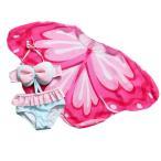 韓国子供服 キッズ 女の子 水着 セパレート ラッシュガード アウター スイミング コート 3点セット 夏 子供 海 可愛い S M L XL 2XL 3XL