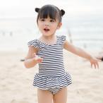 ベビー 水着 女の子 ワンピース 女児 キッズ ストライプ 子供用 こども 女子 みずぎ かわいい 赤ちゃん 80 90 100 110 120cm