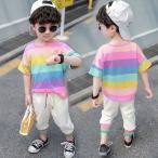 韓国子供服 男の子 半袖Tシャツ カジュアルパンツ 2点セット 丸首 子供服 お出かけ 散歩 海外旅行 80 90 100 110 120 130cm