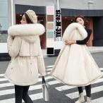 中綿コート ジャケット レディース ロングコート 裏起毛 ダウン コットン 冬服 防寒着 暖かい 厚手 フード付き カジュアル アウター ゆったり 厚手 大きいサイズ