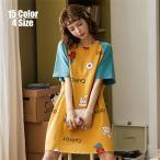 パジャマ ルームウェア レディース ワンピース 綿 夏 パジャマ半袖 学生 ルームウェア 女性 可愛い 部屋着 寝巻き ランジェリー パジャマ 韓国風 ネグリジェ