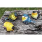 S633  森の小鳥置物 M 4個セット 小鳥/鳥/置物/オーナメント/動物/オブジェ/ガーデン雑貨