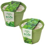 ギフトに エコット(S):クレソン栽培セット&パクチー栽培セット