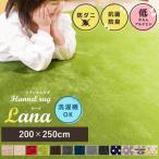 ラグ マット カーペット 3畳 洗える 長方形 フランネル 滑り止め 200×250cm