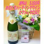 ホワイトデーに【送料込 5,000円】花かご&天使のアスティSETバレンタインのお返しに