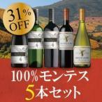 赤白ワインセット  /  100% モンテス5本セット MM12-1  /  750ml x 5  /  送料無料