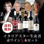 ワイン ワインセット 赤ワインセット イタリアスター生産者 赤ワイン5本セット OP4-1 [750ml x 5] 送料無料