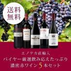 ワイン ワインセット エノテカ直輸入 バイヤー厳選飲み応えたっぷり濃密赤ワイン5本セット EB8-1 [750ml x 5] 送料無料