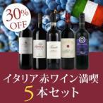 赤ワインセット / イタリア赤ワイン満喫5本セット AN12-1 / 750ml x 5
