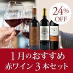 ワイン ワインセット 赤 1月のおすすめ赤ワイン3本セ