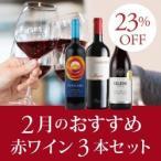 赤ワインセット / 2月のおすすめ3本セット KK2-1 / 750ml x 3