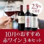赤ワインセット / 10月のおすすめ3本セット KK10-1 / 750ml x 3