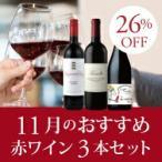 ワイン ワインセット 赤 11月のおすすめ赤ワイン3本セ