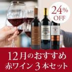 赤ワインセット / 12月のおすすめ3本セット KK12-1 / 750ml x 3