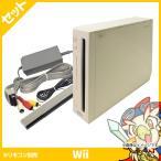ショッピング本体 Wii ウィー 本体 シロ 白 ニンテンドー 任天堂 Nintendo 中古 4点セット 送料無料