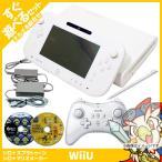 Wii U 本体 スプラ マリオメーカー ソフト ベーシック セット 純正 PRO コントローラー パッド すぐ遊べる ケーブル 付き お得セット 中古 送料無料