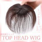 頭頂部ウィッグ 部分ウィッグ  ヘアピース 自然 つむじ 分け目 レディース ボリューム カツラ つけ毛