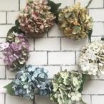 いなざうるす屋 フェイクグリーン ドライ風秋色あじさい 全6色 紫陽花 アジサイ 壁飾り 壁掛けインテリア 観葉植物 ウォールデコレーション 緑 インテ