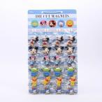マグネット ディズニー ダイカットマグネット台紙セット24ケ付 12種類 ディズニー/SET951 プラスチック キャラクター型 マグネット フック クリップ 磁石
