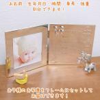 ベビーフレーム ベビーフォトフレーム 名入れ  (お名前・生年月日・出生時間・身長・体重) 2面ブック型 おもちゃ