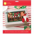 ギフトボックス グリーティングクッキーボックス 2枚 Wilton ウィルトン ウィルトン クリスマス マフィン カップケーキ サンタ 箱 ボックス プレゼント ギフト