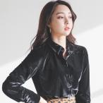 ブラウス レディース 40代 50代 ファッション 女性 上品 黒 茶色 ベージュ ベルベット 長袖 シャツ きれいめ