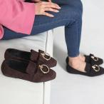 ショッピングフラット フラットシューズ レディース ペタンコ スエード調 裏起毛 ファッション 靴 婦人靴