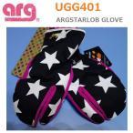 arg◆グローブ レディス<UGG401 ARGSTARLOB GLOVE>90 ブラック 三本指 手袋