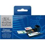 ウィンザー&ニュートン コットマン ウォーターカラー ハーフパン 12色セット フィールドボックス
