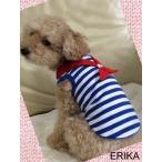 かわいい 犬服・かわいいマリンボーダーTシャツ