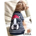 かわいい犬服2XLサイズ商品・ワンポイントワッペンボーダーTシャツ大きいワンちゃん用2XLサイズ