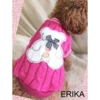 秋冬新作・かわいい犬服ピンクのクマさんニットT