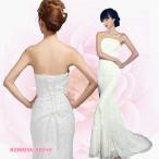 ロング丈 刺繍 ウエディングドレス 花嫁ドレス ワンピ