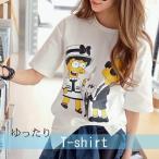 ゆったり感 Tシャツ レディース プリント ロングT 3700042301