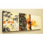 バリ絵画 モダンアート 100×35 36 アートパネル 絵画 インテリア アート 壁掛け アジアン 北欧 モダン 抽象画 ファブリックパネル