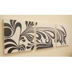 バリ絵画 3連ドットアート 02 アートパネル 3連 北欧 アート 壁掛け 絵画 インテリア モダン アジアン バリ