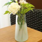 ツートン ガラス フラワーベース A-S 花瓶 ガラス フラワーベース おしゃれ 丸型 シンプル アジアン バリ 北欧