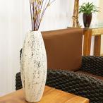 テラコッタ フラワーベース ホワイトウォッシュ Lサイズ 花瓶 アンティーク おしゃれ モダン 白 ビンテージ シンプル 和 アジアン 雑貨 バリ 造花