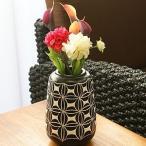 テラコッタ フラワーベース バティック B アンティーク 花瓶 フラワーベース テラコッタ おしゃれ モダン 和 アジアン バリ 造花 アートプランツ
