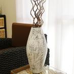 おしゃれ フラワーベース 花瓶 大きい シャビーシック アンティーク テラコッタ フラワーベース ホワイトウォッシュ モダン 白 ビンテージ 和 アジアン 造花