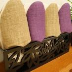 木製スリッパラック ロータス スリッパ立て おしゃれ スリッパ入れ 北欧 収納 木製 モダン アジアン 雑貨 バリ