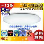Yahoo!イーライン「新商品」NEC HLDZ12208 LEDシーリングライト 12畳 連続多段調光  白ささわやか文字はっきり「よみかき光」 かんたん留守タイマー 防虫機能 「送料無料」